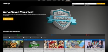 Betway Casino Login Page