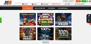 Big 5 casino promo page