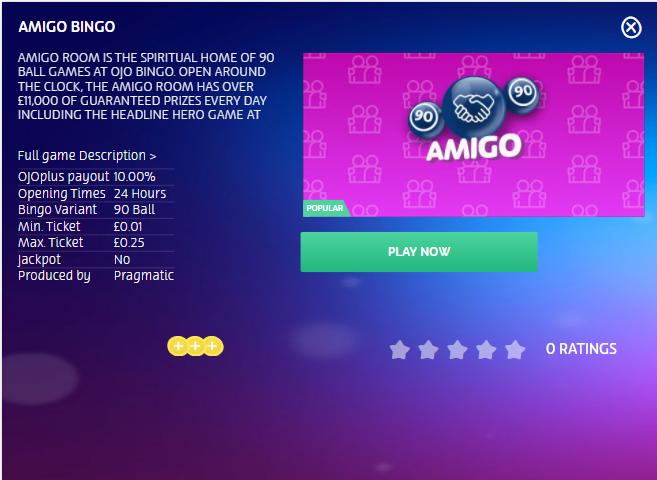 PlayOjo Bingo Image 9