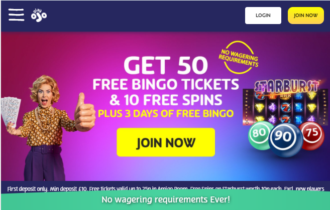 PlayOjo Bingo Image 3