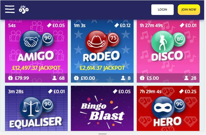 PlayOjo Bingo Image 6