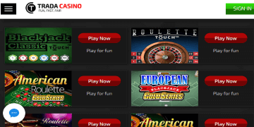 Trada Casino Screenshot 4