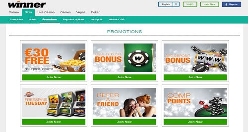 Winner Online Casino Bonus