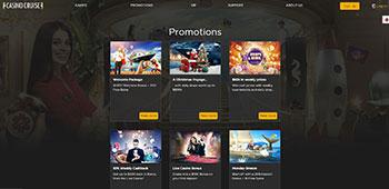 Casino Cruise promo page