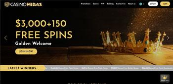 Casino Midas homepage
