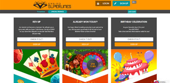 Casino Superlines promotions page
