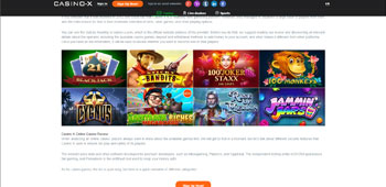 Casino-X promotion page