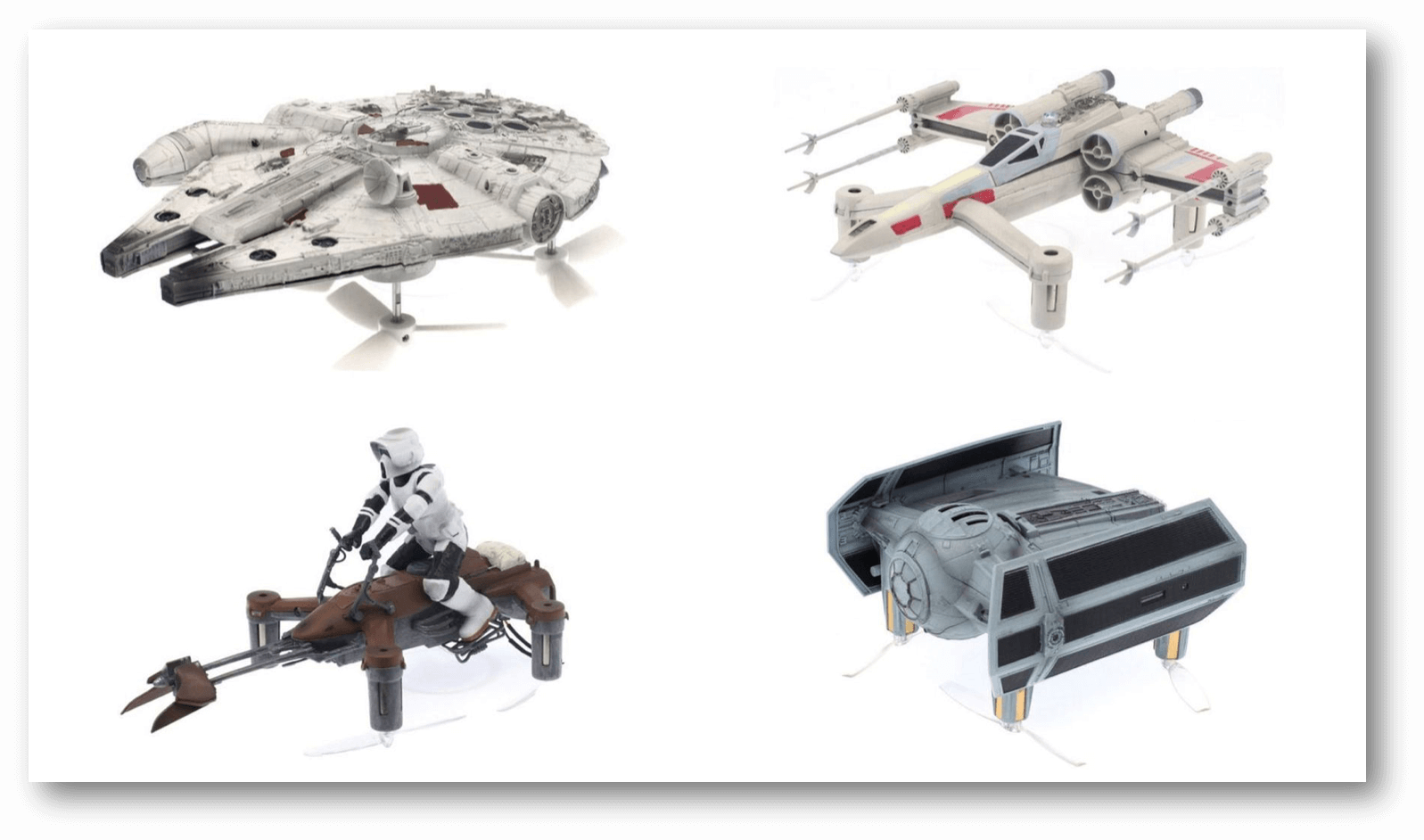Star Wars drone models