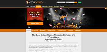 Emu Casino promotions page