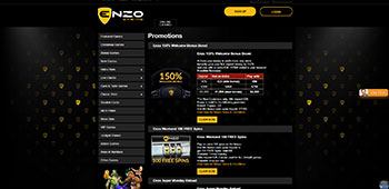 Enzo Casino promotion page