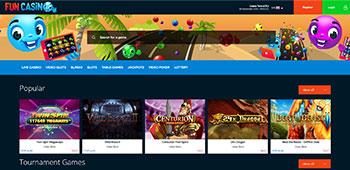 Fun casino welcome page