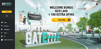 Gate777 Casino homepage