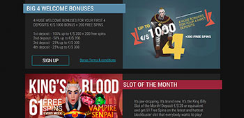King Billy Casino promotions page