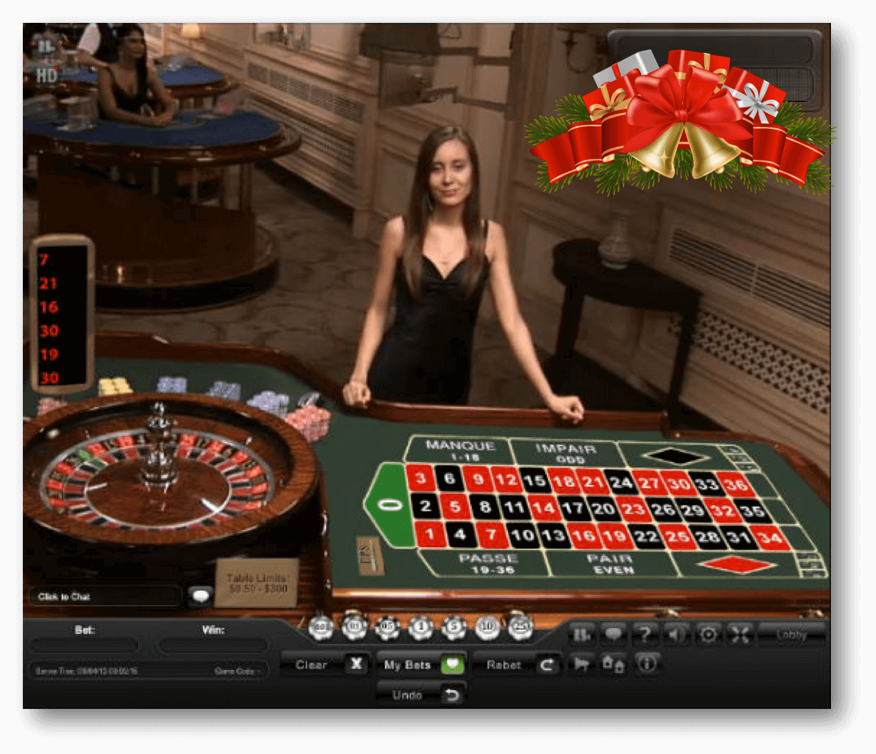 Playtech Christmas Edition Live Roulette