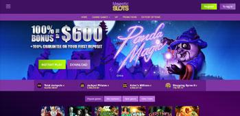 Majestic Slots Casino homepage