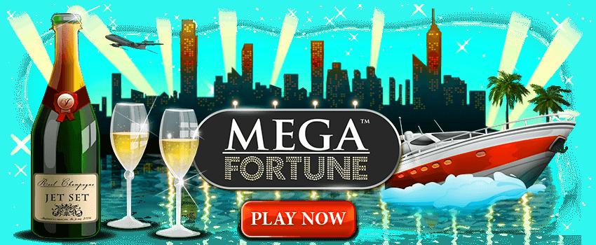 Mega Fortune Online Pokies Banner
