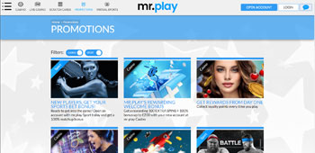 Mr Play Casino promotions page