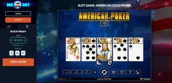 Mr Bet American Poker Screenshot