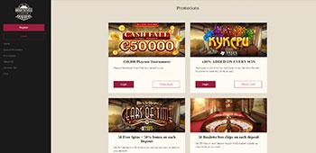 Orient Xpress Casino promo page