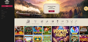 Orient Xpress Casino welcome page