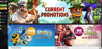Playamo Casino promo page