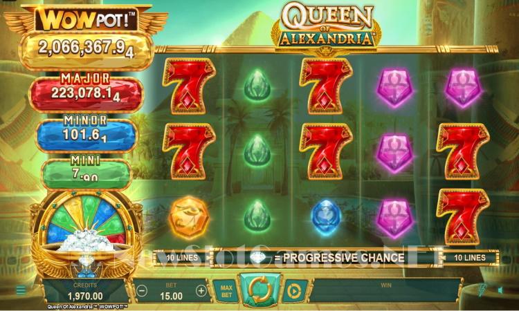 Queen of Alexandria wowpot big win