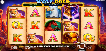 LuckyVegas Wolf Gold