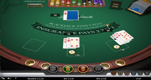 Blackjack at Sloty