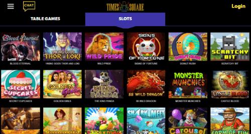 Times Square Casino Games