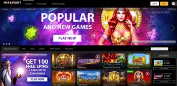MRFAVORIT Online Casino Home Page