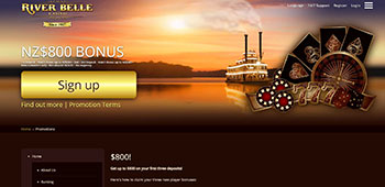 River belle casino promotion page