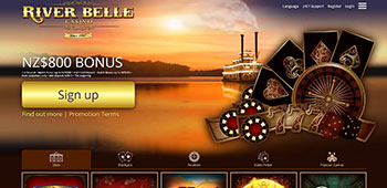 River belle casino welcome page