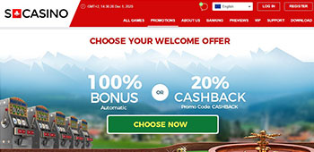 SCasino promotion page