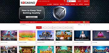 SCasino homepage