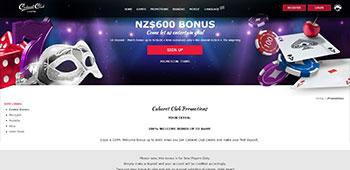 Cabaret promo page