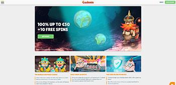 Cashmio welcome page