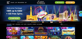 Casino Las Vegas welcome page