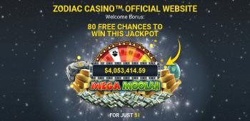 Zodiac Casino Screenshot 1