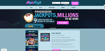 Slots Cafe Casino homepage