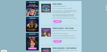 Slots Cafe Casino promotions page