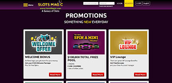 Slots Magic Casino promotions page