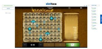 Slottica Tutan Keno
