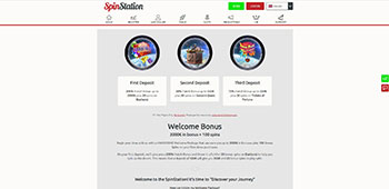 SpinStation Casino promotions page