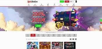 SpinStation Casino homepage