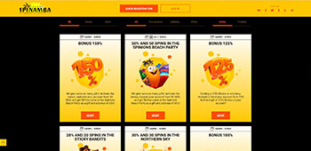 Spinamba Casino promotions page