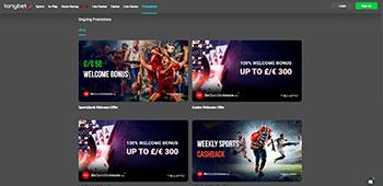 Tonybet Casino promotion page