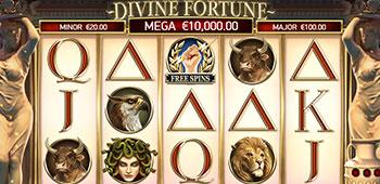 Vegas Hero Casino divine fortune slot inplay