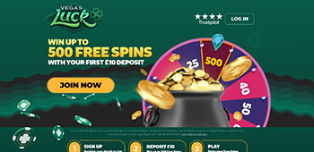 Vegas Luck Casino homepage