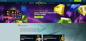Wixstars casino welcome page