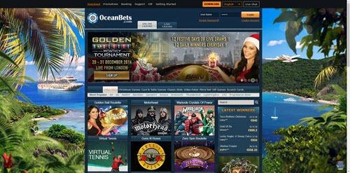 OceanBets Website Snapshot